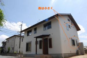 西の窓は小さく パッシブな家づくりの窓の配置と大きさ