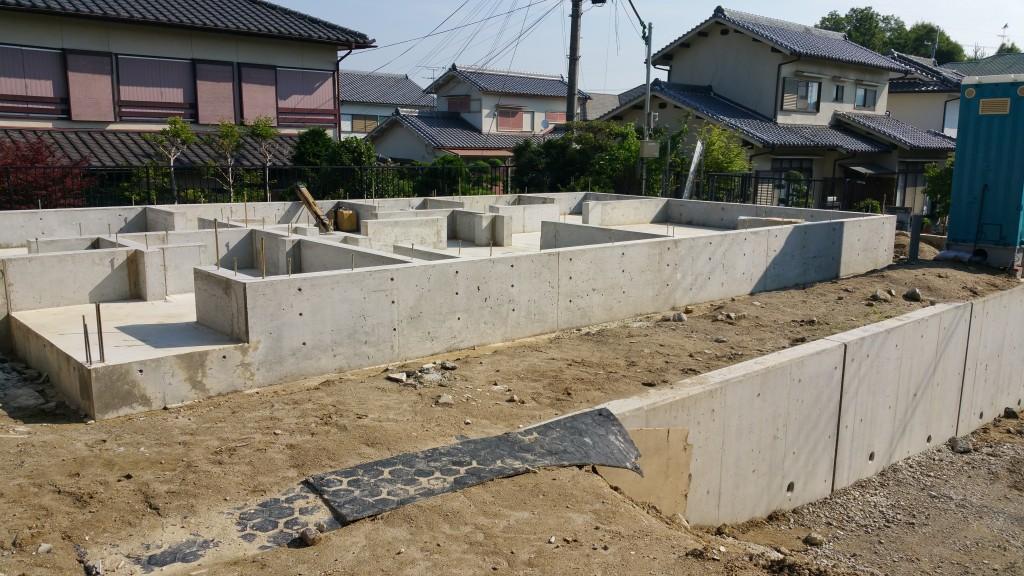 奈良市の木の家 基礎工事完了の写真 施工:工務店ソーラーコム