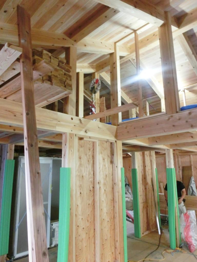 大阪府池田市 ガレージハウスの注文住宅 施工:木の家ソーラーコム