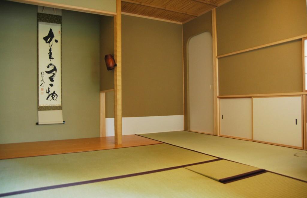 木の家にある茶室の空間 撮影:工務店ソーラーコム