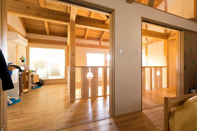 開放的な2階の風景