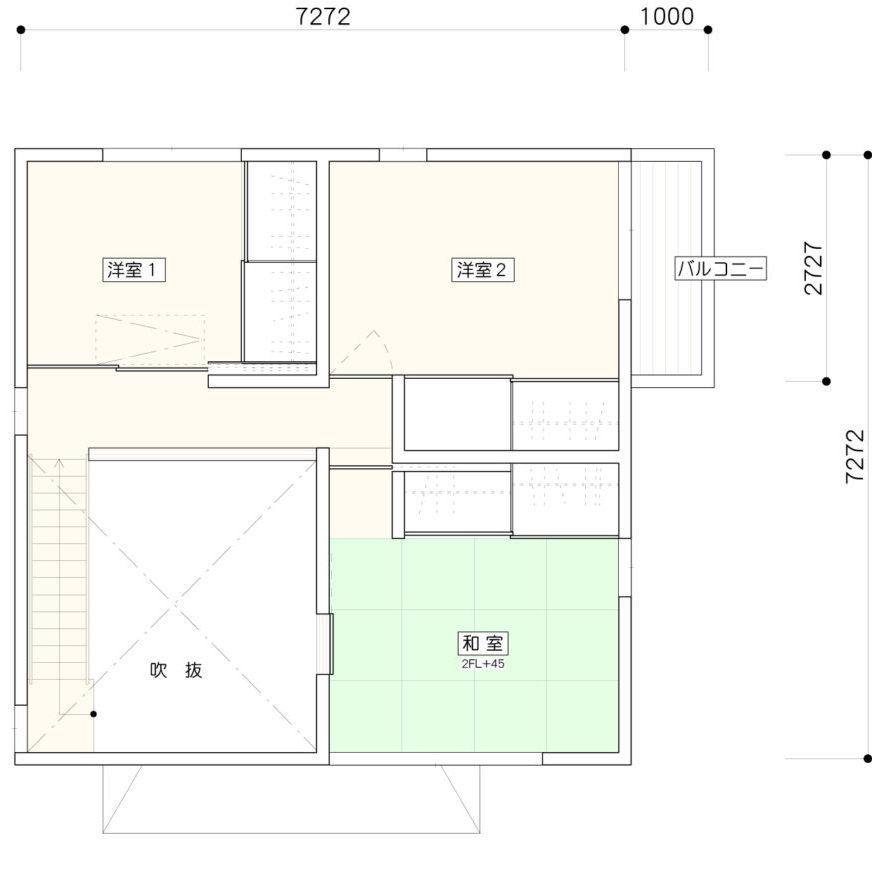伊礼智のi-worksの2階の間取り