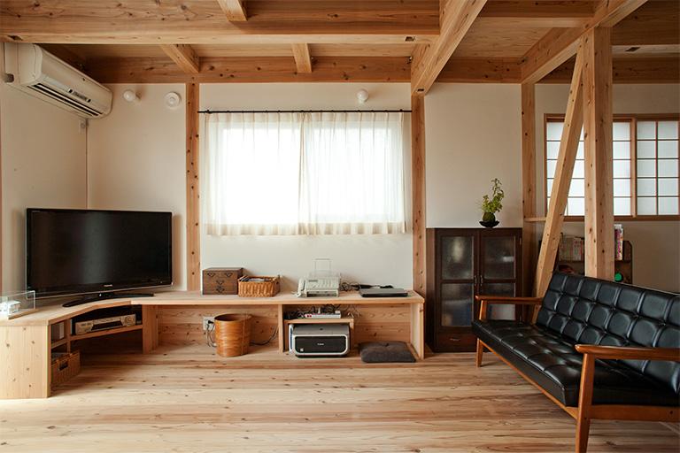 オリジナルの作り付け家具